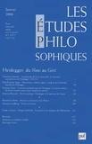 Christian Sommer et Paul-Etienne Atger - Les études philosophiques N° 1, 2006 : Heidegger, du Nous au Geist.
