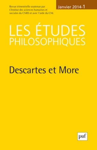 Jean-Pascal Anfray - Les études philosophiques N° 1, Janvier 2014 : Descartes et More.