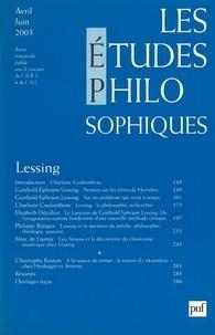 Jean-Louis Labarrière et Marc Crépon - Les études philosophiques N° 2, Avril-Juin 200 : Lessing.
