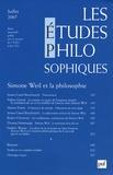 Anissa Castel-Bouchouchi et Valérie Gérard - Les études philosophiques N° 3, Juillet 2007 : Simone Weil et la philosophie.