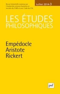 Les études philosophiques N° 3, Juillet 2014.pdf