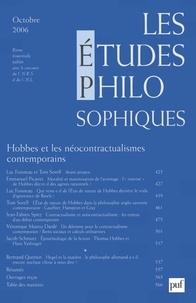 Luc Foisneau et Tom Sorell - Les études philosophiques N° 4, Octobre 2006 : Hobbes et les néoconcractualismes contemporains.