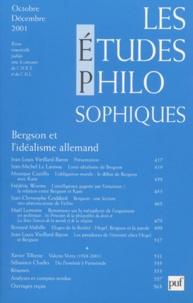 Puf - Les études philosophiques N° 4, Octobre-Décemb : Bergson et l'idéalisme allemand.