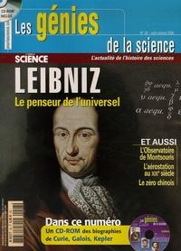Marie-Neige Cordonnier et Massimo Mugnai - Les Génies de la Science N° 28, Août-octobre : Leibniz - Le penseur universel. 1 Cédérom