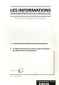 CIG petite couronne - Les informations administratives et juridiques N° 5, mai 2006 : Le personnel des administrations parisiennes.