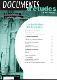 Jean-Pierre Lassale - Les institutions des Etats-Unis.