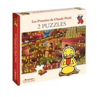 Claude Ponti - Les poussins de Claude Ponti - 2 incroyables puzzles.