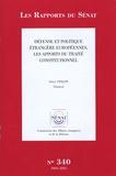 Serge Vinçon - Les Rapports du Sénat N° 340, 2004-2005 : Défense et politique étrangère européennes, les apports du traité constitutionnel.