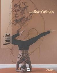 Mathilde Carasco Baranco et Olivier Cheval - Nouvelle revue d'esthétique N° 13/2014 : Varia.