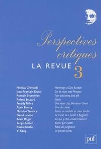 Roland Jaccard et Nicolas Grimaldi - Perspectives critiques, La Revue N° 3 : .