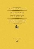 Marion Planty-Bonjour - Phénoménologie et métaphysique.