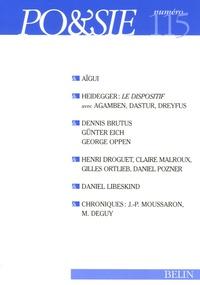Claude Mouchard et Martin Heidegger - Po&sie N° 115, 1er trimestr : .