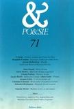 T Carmi et Benjamin Fondane - Po&sie N° 71, 1995 : .