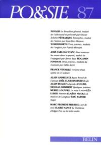 Pétrarque et Benjamin Fondane - Po&sie N° 87, 1er trimestre : .