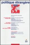 Victor Tanner et Rashid Khalidi - Politique étrangère N° 4, Hiver 2004 : .