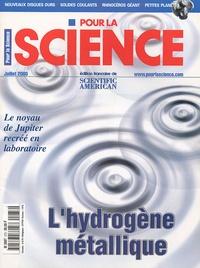 Didier Nordon - Pour la science N° 273, Juillet 2000 : L'hydrogène métalique.