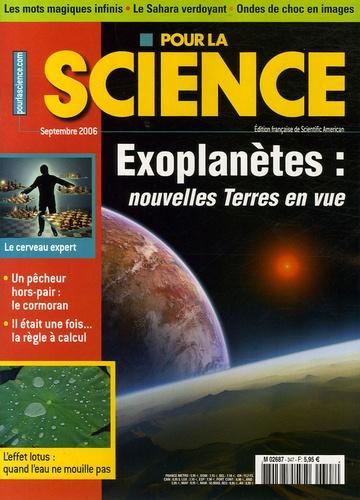 Anne-Marie Lagrange - Pour la science N° 347, Septembre 20 : Exoplanètes : nouvelles Terres en vue.