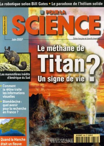 Hervé This - Pour la science N° 356, juin 2007 : Le méthane de Titan - Un signe de vie ?.