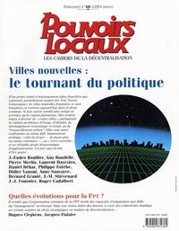 Luigi Van Leeuwen et Pascal Gaborit - Pouvoirs locaux N° 60, I/ 2004 (mars : Villes nouvelles : le tournant politique.