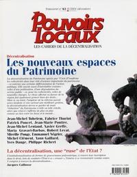 David Ouvrard et Thierry Zarcone - Pouvoirs locaux N° 63, 4e Trimestre : Décentralisation : les nouveaux espaces du Patrimoine.