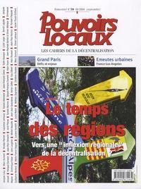 """Collectif - Pouvoirs locaux N° 70, Septembre 200 : Le temps des régions - Vers une """"inflexion régionale"""" de la décentralisation ?."""