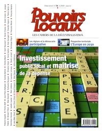Jean-Marc Ohnet - Pouvoirs locaux N° 76, Mars 2008 : Investissement public local et maîtrise de la dépense.