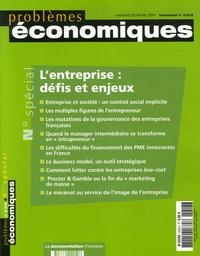 Alain Fayolle et Azzédine Tounes - Problèmes économiques N° Spécial 2.918, Fé : PROBLEMES ECONOMIQ..