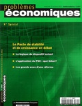Philippe d' Arvisenet et Philippe Marchat - Problèmes économiques N° 2827 15 octobre 2 : Le Pacte de stabilité et de croissance en débat.