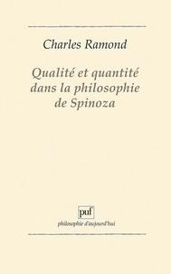 Charles Ramond - Qualité et quantité dans la philosophie de Spinoza.