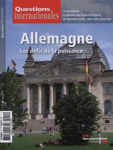 La Documentation Française - Questions internationales N° 54 : Allemagne : les défis de la puissance.
