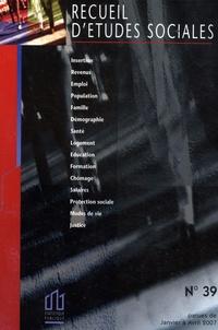 Recueil détudes sociales N° 39, Janvier à Avr.pdf