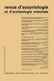 Dominique Charpin - Revue d'assyriologie et d'archéologie orientale N° 113/2019 : .