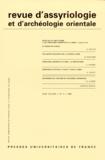 Puf - Revue d'assyriologie et d'archéologie orientale N° 43-1/1999 : .