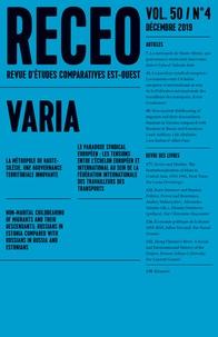 Collectif - Revue d'études comparatives Est-Ouest N° 4/2019 : .