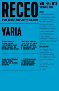 Ioulia Shukan - Revue d'études comparatives Est-Ouest Volume 49 N° 3, sept : Varia.