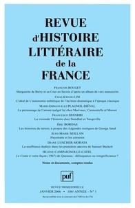 François Rouget et Chae-Kwang Lim - Revue d'histoire littéraire de la France N° 1/2006 : .