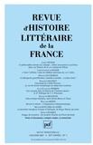 Loris Petris et Christopher-J Gossip - Revue d'histoire littéraire de la France N° 1, janvier 2007 : .