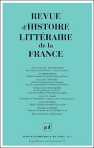 Puf - Revue d'histoire littéraire de la France N° 1, Janvier-févrie : .