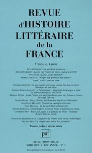 Jacques Dubois et Xavier Bourdenet - Revue d'histoire littéraire de la France N° 1, Janvier-mars 2 : Stendhal, Lamiel.