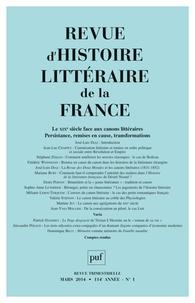 José-Luis Diaz - Revue d'histoire littéraire de la France N° 1, Janvier-mars 2 : Le XIXe siècle face aux canons littéraires - Persistance, remises en cause, transformations.