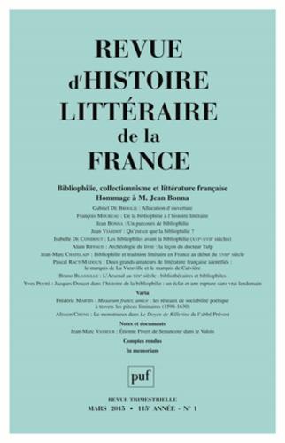 Revue D Histoire Littéraire De La France