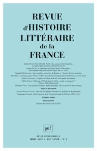 Pierre-Louis Rey - Revue d'histoire littéraire de la France N° 1, Mars 2013 : .