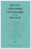Puf - Revue d'histoire littéraire de la France N° 2 mars-avril 2000 : .