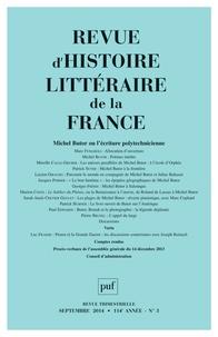 Alain Génetiot - Revue d'histoire littéraire de la France N° 3, Juillet-Septem : Michel Butor ou l'écriture polytechnicienne.