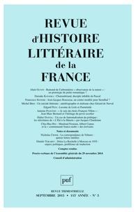 Alain Génetiot - Revue d'histoire littéraire de la France N° 3, Juillet-septem : .