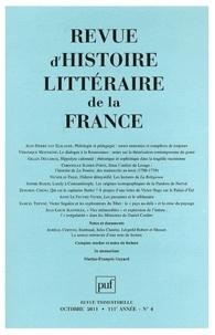 Pierre-Louis Rey - Revue d'histoire littéraire de la France N° 4, Octobre 2011 : .
