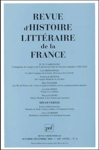Jan Miernowski et Eric Fougère - Revue d'histoire littéraire de la France N° 4, Octobre-Décemb : .