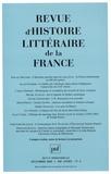 Pascale Mounier et Alain Sandrier - Revue d'histoire littéraire de la France N° 4, Octobre-Décemb : .