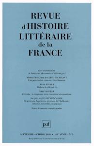 Jacqueline Blancart-Cassou et Guy Demerson - Revue d'histoire littéraire de la France N° 5, Septembre-octo : .