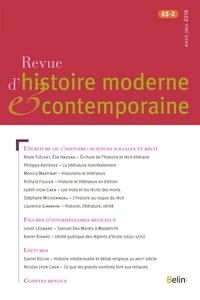 Belin - Revue d'histoire moderne et contemporaine Tome 65 N° 2, 2018 : .